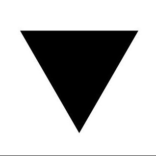 a black triangle, symbolizing LGBT rights, the logo of Prism Integrative Acupuncture