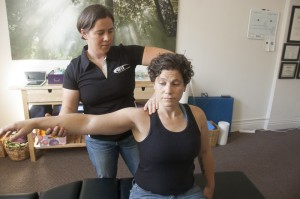 Sandy Baird DC of Riverstone Chiropractic providing queer inclusive LGBT chiropractic care for trans patients